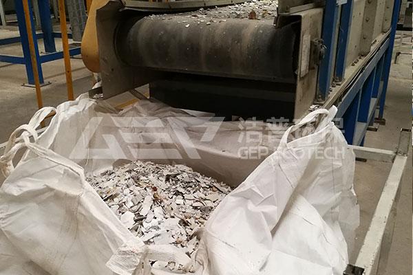 小家电拆解破碎回收系统,电子垃圾破碎机生产线案例