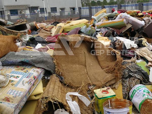 大件杂物垃圾资源化处置方案,大件垃圾处理中心系统介绍