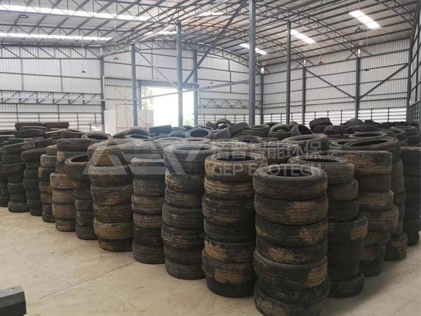 废旧轮胎回收处理生产线,废旧轮胎破碎回收工艺流程介绍