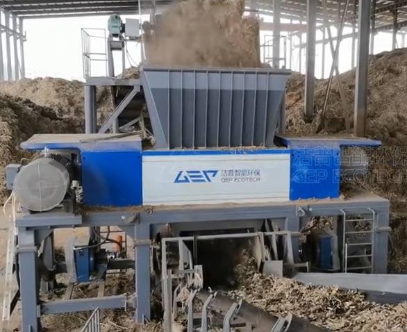 电厂秸秆破碎处理生产线项目现场视频